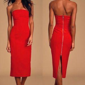 Bb Dakota Iconic Strapless BodyCon Red Dress Sz 4
